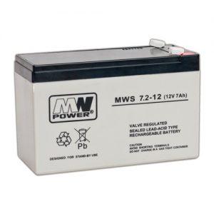 Acumulator stationar baterie 12V 7.2Ah MWS pentru ups, surse alimentare cu backup,sisteme de alarma
