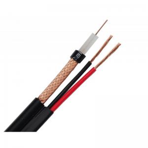Cablu coaxial cu dubla alimentare RG6, cupru 100%, 2x0.75 mm, tambur 305m
