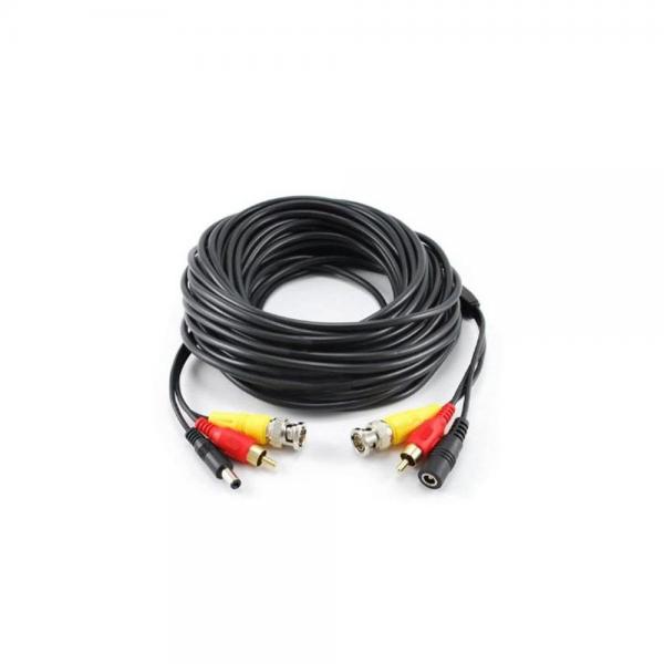 Cablu sertizat 20 metri BNC DC RCA alimentare semnal video semnal audio