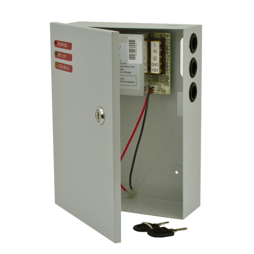 Sursa alimentare 12V, 5A, back-up in cabinet metalic