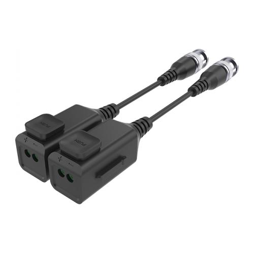Video balun pasiv HD 4K, cu sistem organizare si buton pentru sertizare rapida tip PUSH (set 2 buc.)