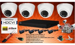 Kit 4 camere de supraveghere DAHUA 2MP 1080P complet