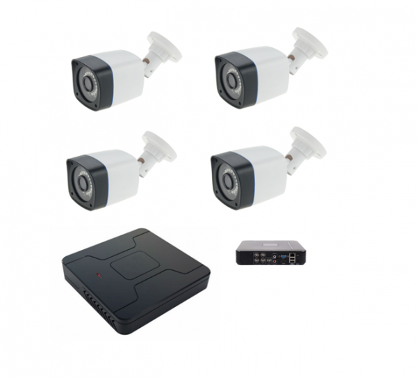 Kit supraveghere 4 camere 960P 1.3MP ccd Sony starlight 30m IR color noaptea, DVR 4 canale