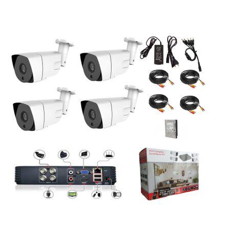 Sistem supraveghere video complet 4 camere exterior FULL HD cu IR 30 m vizionare live mobil hard 1Tb CADOU UPS Well 360W 650 Va