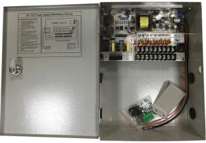 Sursa alimentare cu backup 10A 12 V cutie metalica 9 iesiri partajate