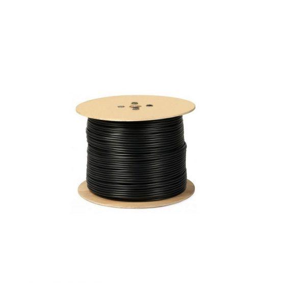 Cablu RG 59 coaxial cupru 100% cu alimentare 2x0.75 mm tambur 305 m