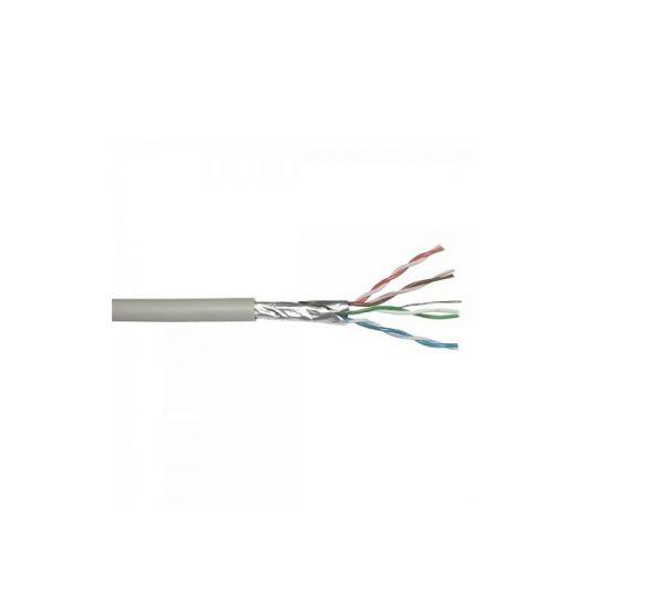 Cablu FTP CAT5 aluminiu cuprat 4x2x0.5mm, rola 305 m, culoare gri