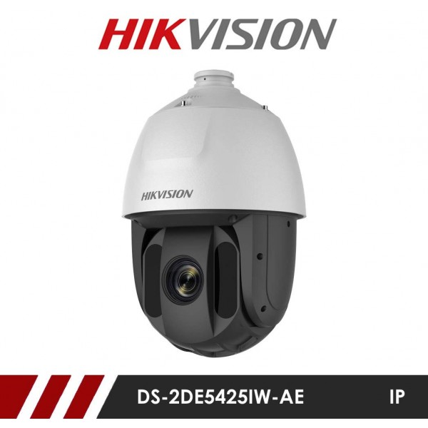 Camera supraveghere Ultra HD IP Speed Dome Hikvision DS-2DE5425IW-AE, 4 MP, IR 150 m, 4.8 - 120 mm, 25x + suport card microSD