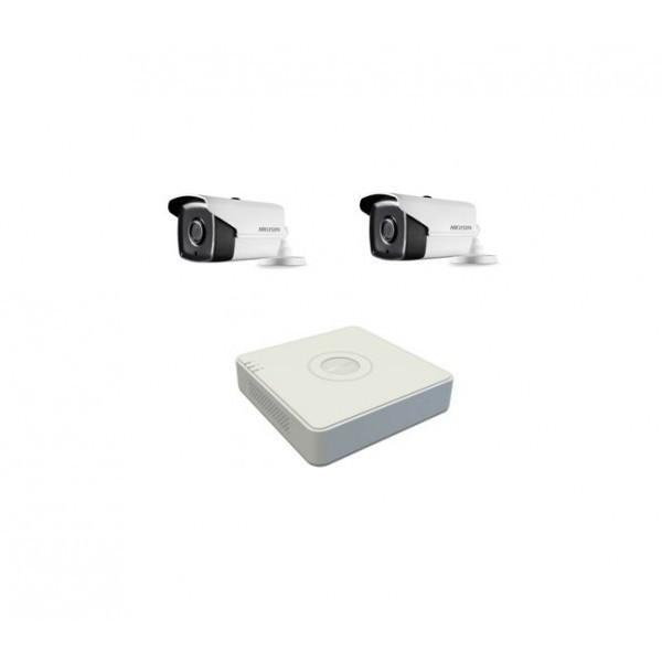 Kit de supraveghere Hikvision Turbo HD 720P cu 2 camere IR40 m