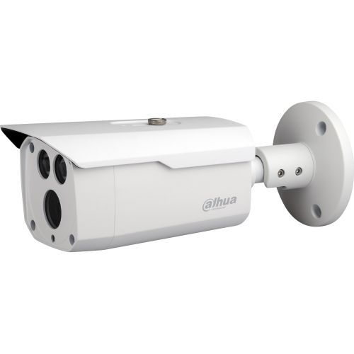 Camera de supraveghere Dahua HAC-HFW1200D, HD-CVI, Bullet, 2MP, 3.6mm, EXIR 2 LED Arrays, IR 80m, D-WDR, Rating IP67, Carcasa aluminiu