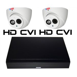 Sistem supraveghere video Rovision 2 camere 2mp 50m smart IR IP67
