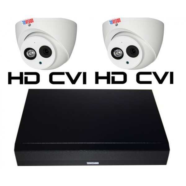 Sistem supraveghere video Rovision 2 camere 2mp 50m smart IR IP67