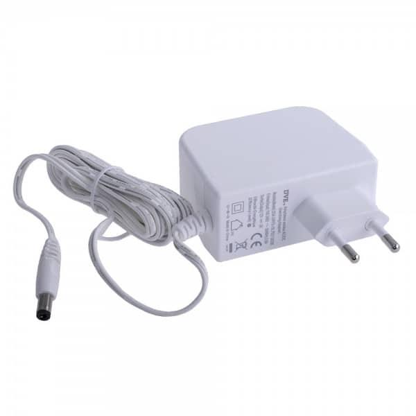 Sursa alimentare 12V 2 A DVE cu stecher carcasa plastic mufa 5.5*2.1 mm +intrerupator DC cable 1.8m