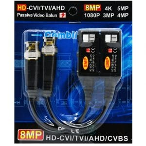 Video balun 8MP HD-CVI/TVI/AHD/CVBS